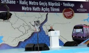 Haliç Metro Köprüsü açılışı kadir topbaş