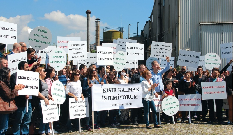 plastifay fabrikası protesto