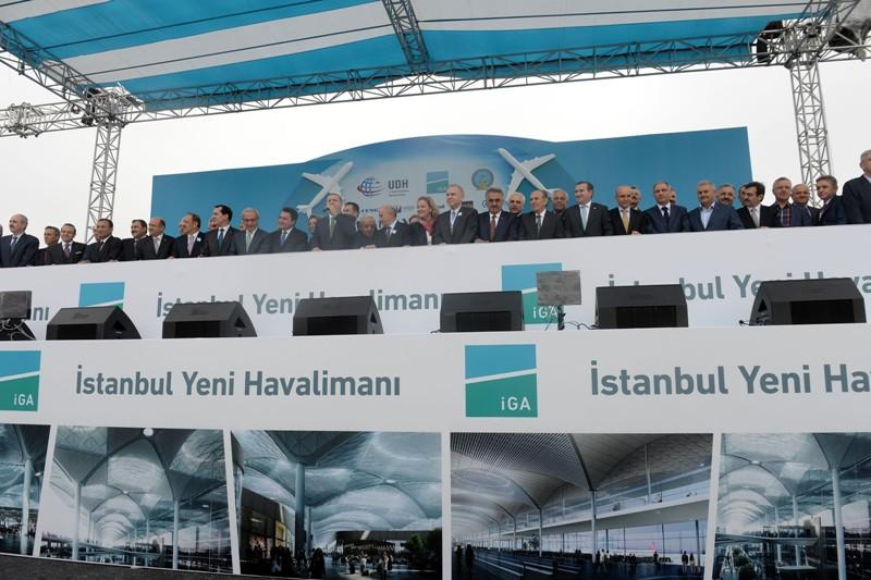 üçüncü havaalanı açılış töreni