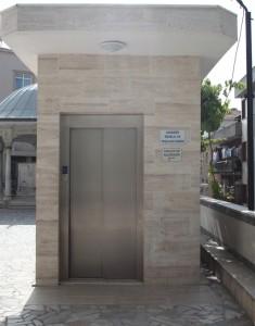 çeliktepe camii engelli asansörü
