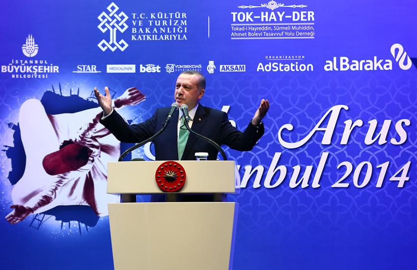 Şeb-i Arus İstanbul 2014 Recep Tayyip Erdoğan