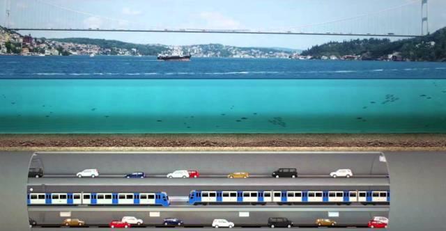 İstanbul üç katlı tunel