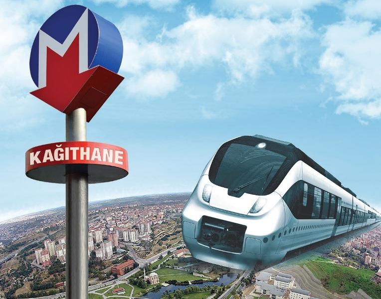 Kagithane'de dev proje metro