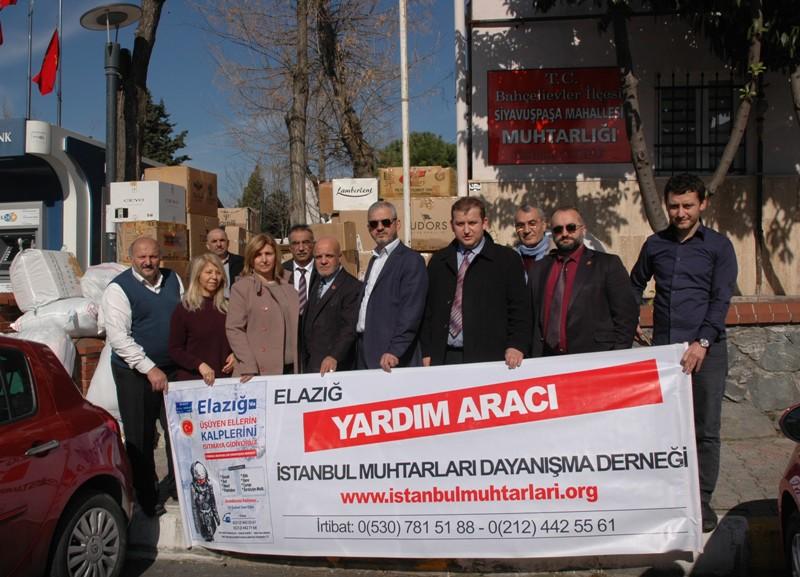 İMDD Yardım Kamyonları Elazığ'a Yola Çıktı