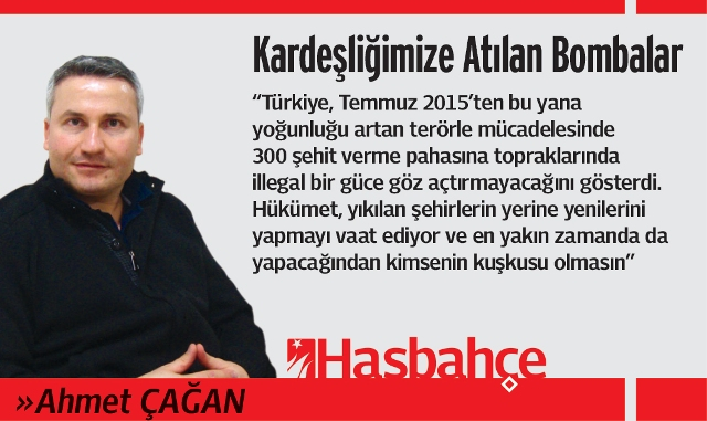 Ahmet Çağan Köşe Yazısı