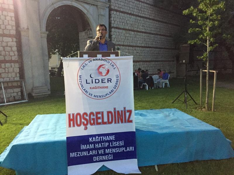 Lider Kağıthane İmam Hatip Okulları Mezunları ve Mensupları Derneği Başkanı Tuncay Çelik