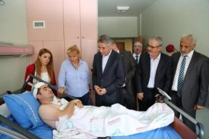 İMDD Elazığ'daki yaralıları ziyaret etti