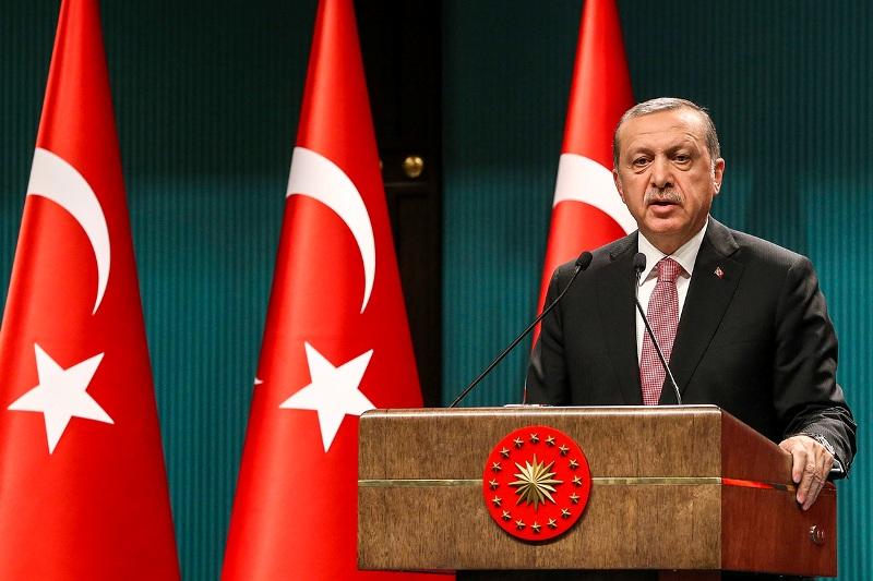 Cumhurbaşkanı Recep Tayyip Erdoğan, MGK ve Bakanlar Kurulu Toplantısı sonrasında Cumhurbaşkanlığı Külliyesi'nde basın toplantısı düzenledi.  ( Halil Sağırkaya - Anadolu Ajansı )