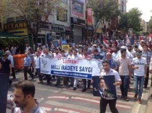 Foto-Milli irade protesto