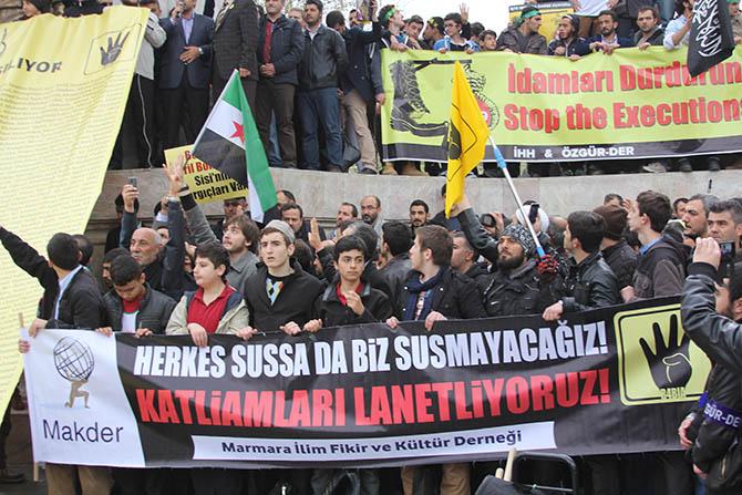 Fatih sarachane mısır 529 idam protesto