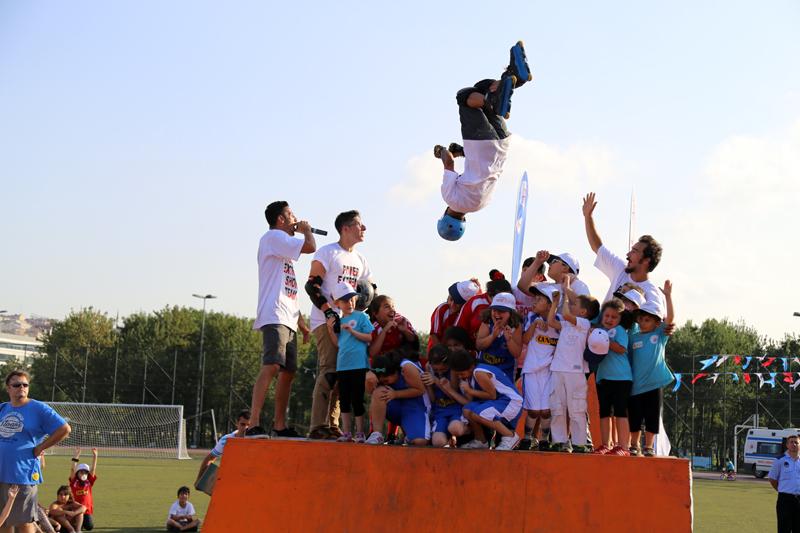 yaz spor okulu kapanış gösteri