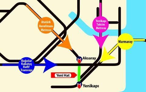 Aksaray-Yenikapı Metro Hattı Güzergah