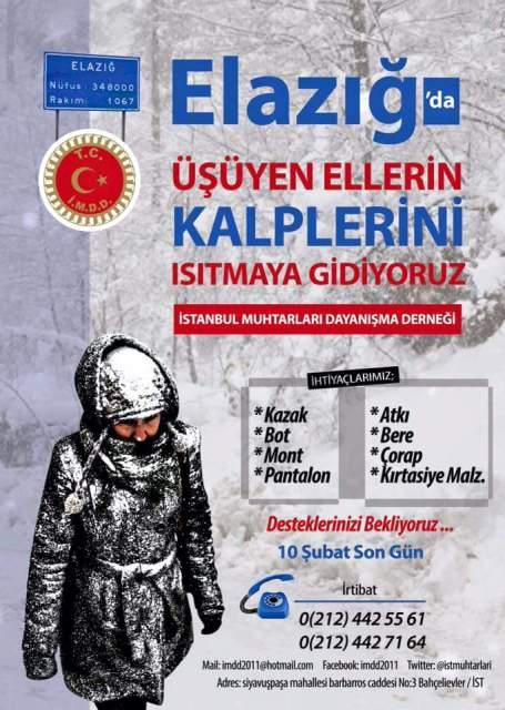 İstanbul Muhtarları Dayanışma Derneği Anadolu'da Üşüyen Elleri Isıtmaya Gidiyor