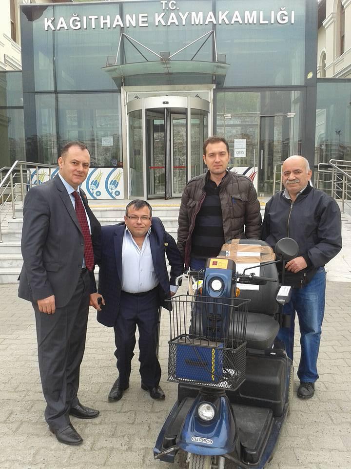 Sosyal Yardımlaşma ve Dayanışma Vakfı Müdürü Koray Sarıoğlu Engelli Araç Projesi
