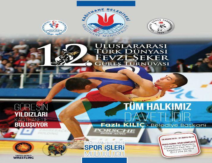 12.Uluslararası Türk Dünyası Fevzi Şeker Güreş Turnuvası Başlıyor