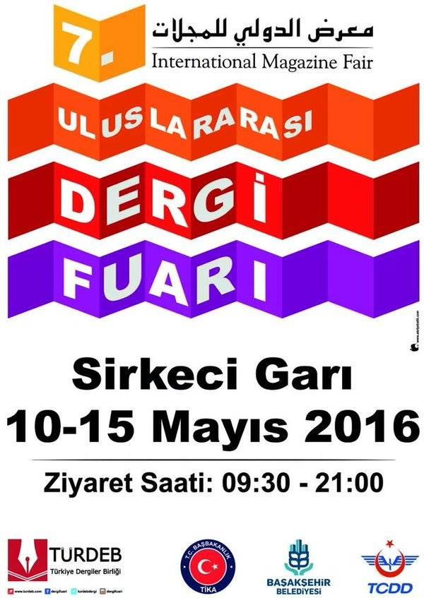 7. Uluslararası Dergi Fuarı İstanbul Tarihi Sirkeci Garı