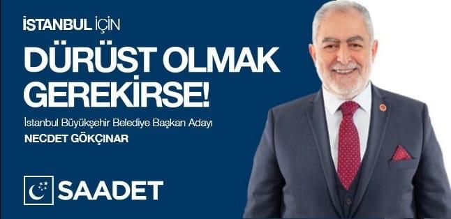 saadet partisinin istanbul belediye başkan adayı kim ile ilgili görsel sonucu